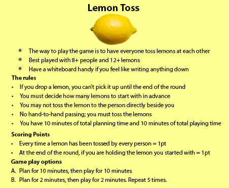 lemon toss game